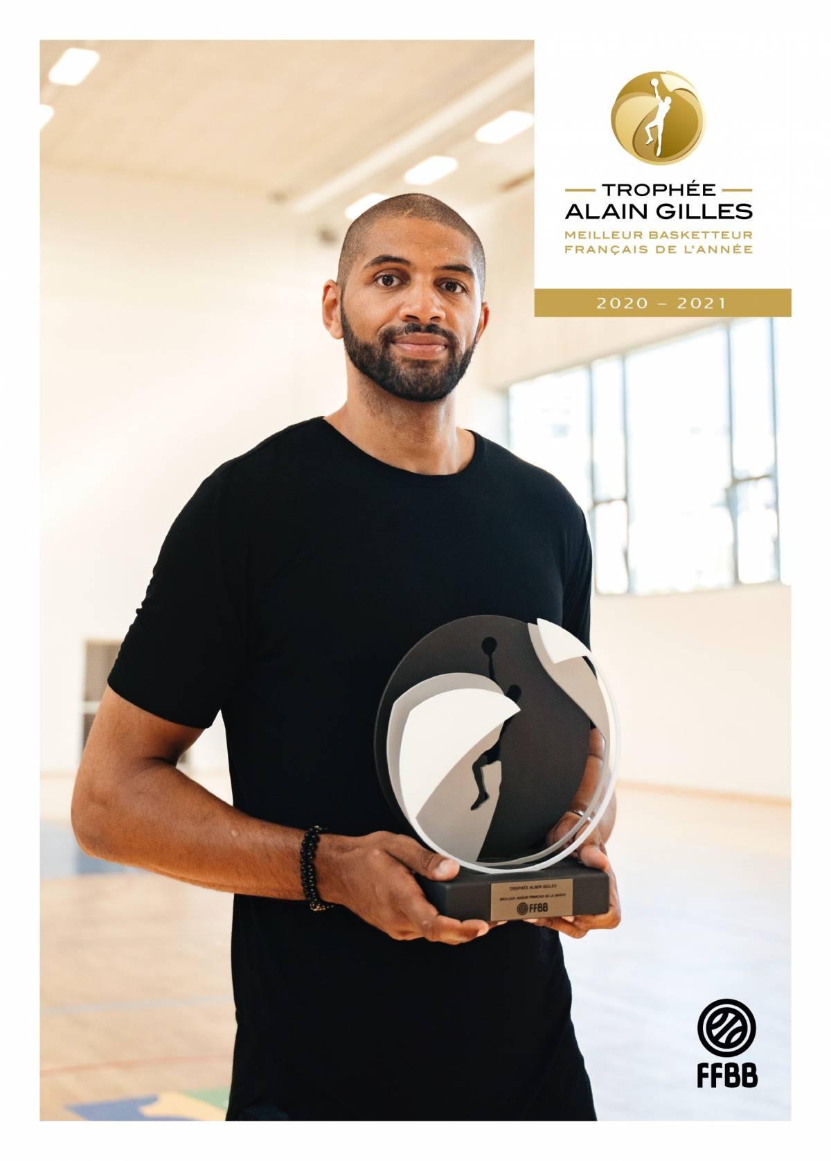 Nicolas Batum remporte le Trophée Alain Gilles 2021
