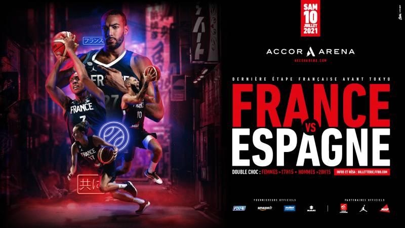 Double France-Espagne à l'Accor Arena